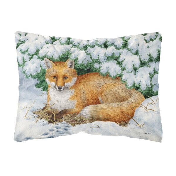 Shultis Winter Fox Fabric Indoor/Outdoor Throw Pillow by Winston Porter