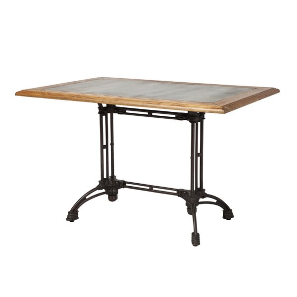 Colyer Reclaimed Oak Industrial Dining Table by 17 Stories