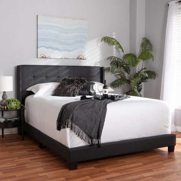 Brie Upholstered Standard Bed by Wrought Studio