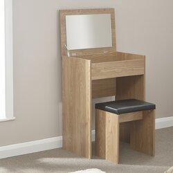 Metro Lane Anna Compact Dressing Table Set With Mirror U0026 Reviews |  Wayfair.co.uk