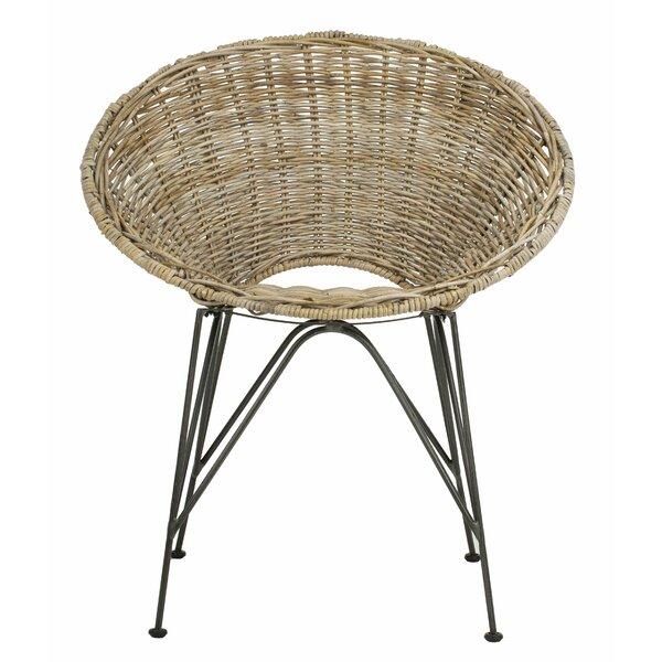 Brinker Rattan Papasan Chair by Bungalow Rose