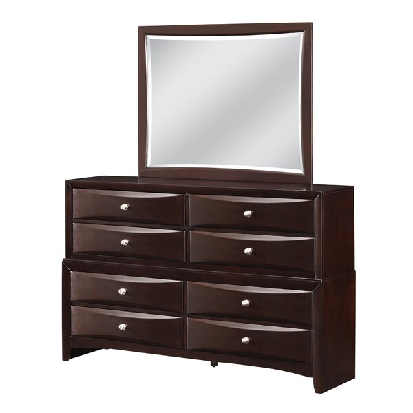 Raffin 8 Drawer Double Dresser with Mirror by Red Barrel Studio