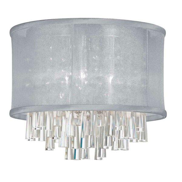 Phebe 4-Light LED Crystal Flush Mount by Everly Quinn