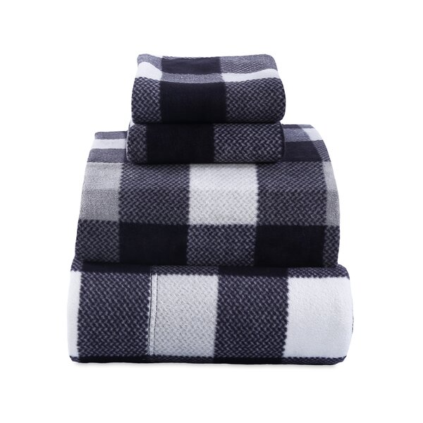 Cabin Plaid Microfleece Sheet Set by Berkshire Blanket