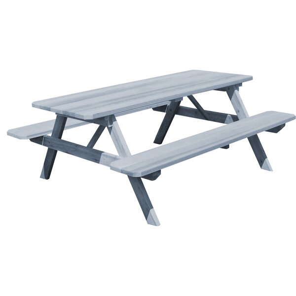 Amedee Wooden Picnic Table by Gracie Oaks
