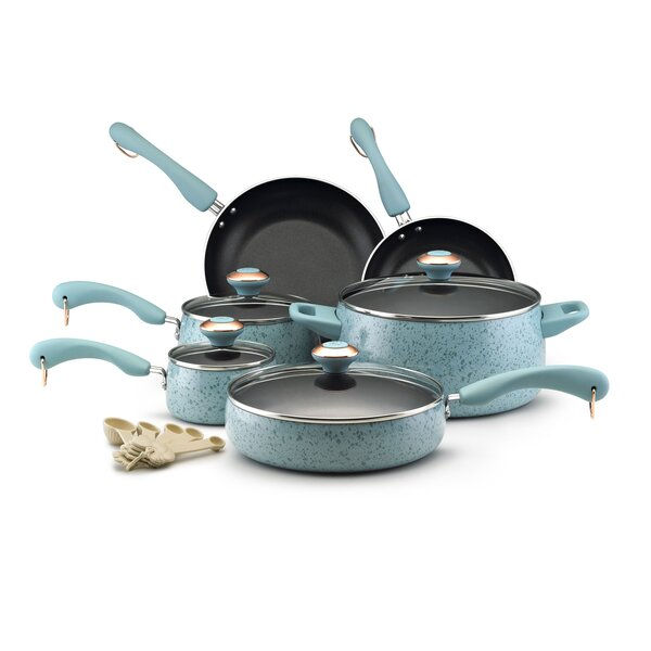 Paula Deen Signature Porcelain 15 Piece Non-Stick Cookware Set by Paula Deen