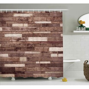 Wooden Brown Farmhouse Style Shower Curtain