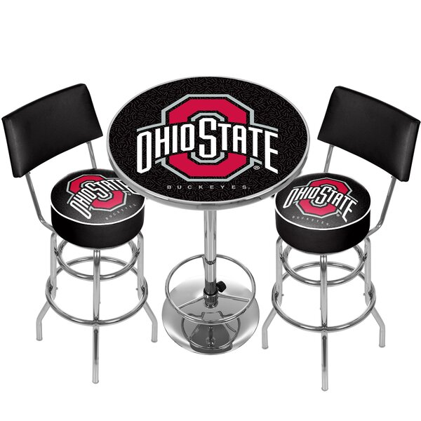 NCAA Game Room Combo 3 Piece Pub Table Set by Trademark Global