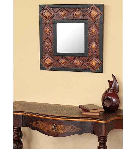 Diamonds Leather Wall Mirror by Novica