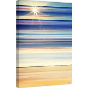 'Sun Lit Streaks' by Parvez Taj Painting Print on Wrapped Canvas by Parvez Taj