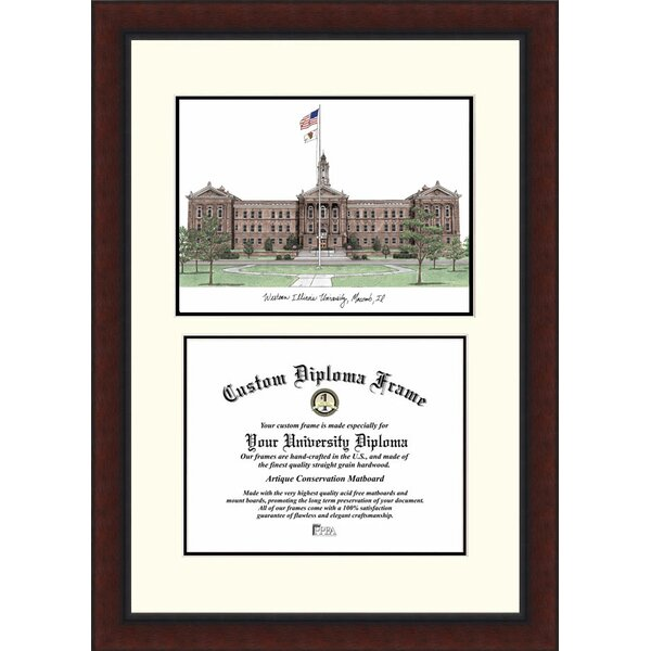 NCAA Western Illinois University Legacy Scholar Diploma Picture Frame by Campus Images
