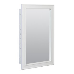 Marc 16.5 x 26.75 Recessed Framed Medicine Cabinet with 3 Adjustable Shelves by Charlton Home