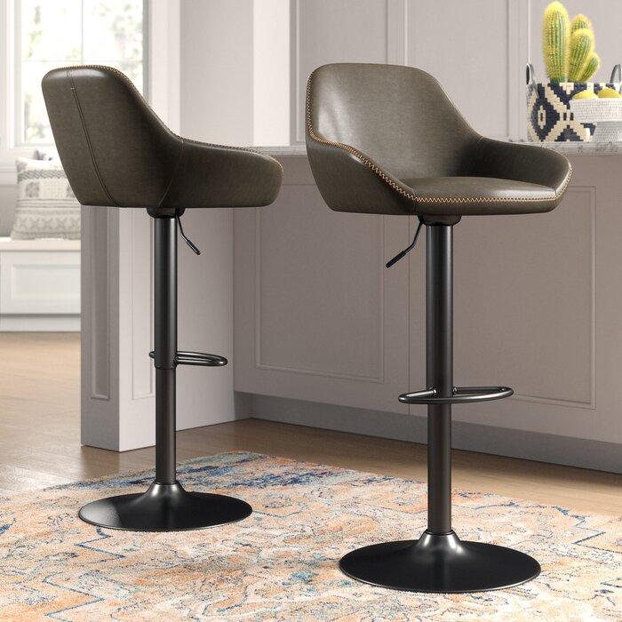 Pleasing Thibodeaux Adjustable Height Swivel Bar Stool Uwap Interior Chair Design Uwaporg
