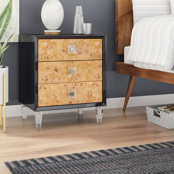 Burly 3 Drawer End Table By Willa Arlo Interiors