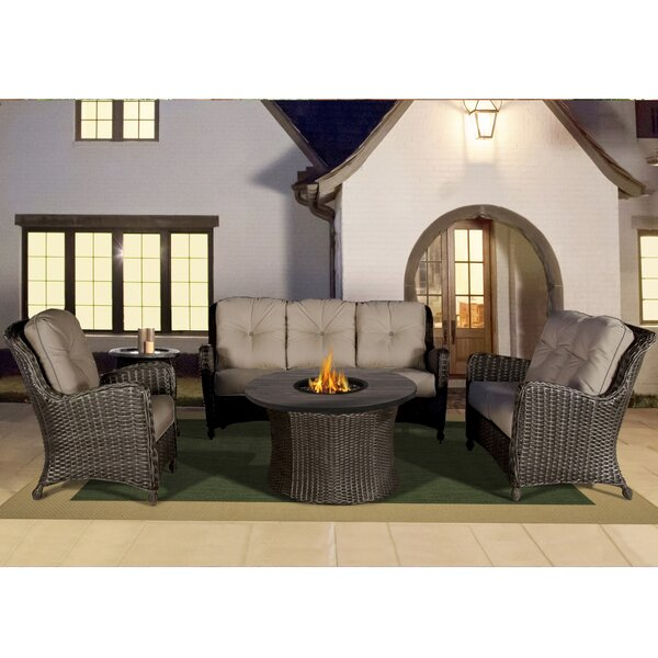 Adriel Seating Group with Sunbrella Cushions by Rosecliff Heights