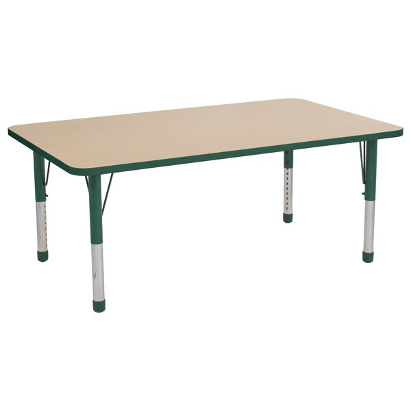 Maple Top Thermo-Fused Adjustable 36 x 60 Rectangular Activity Table by ECR4kids