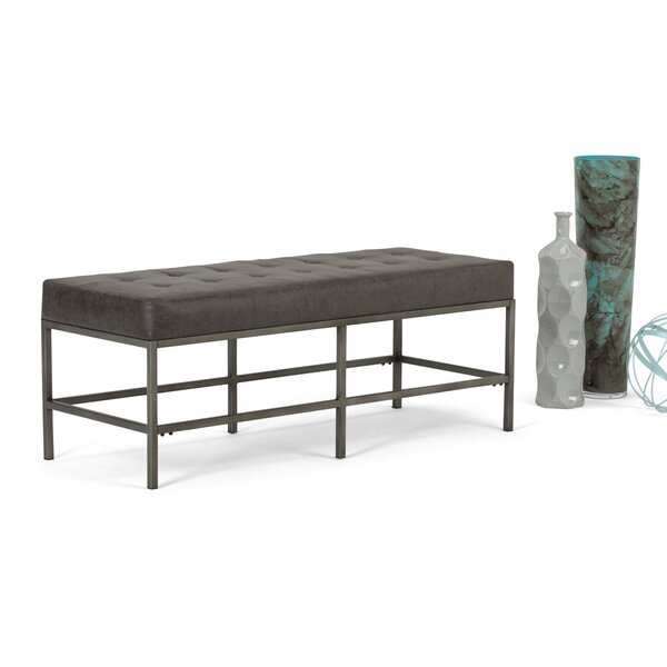Beckett Faux Leather Bench by Simpli Home