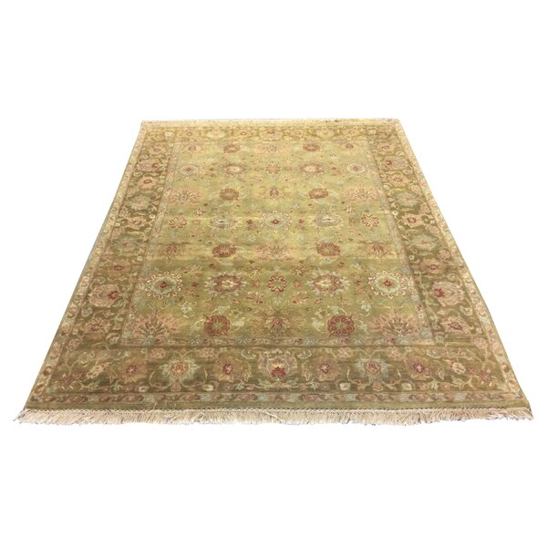 One-of-a-Kind Drumsill Hand-Knotted Green 8' x 10' Wool Area Rug