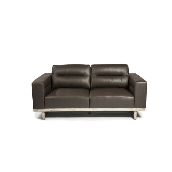Ignazio Leather Loveseat by 17 Stories