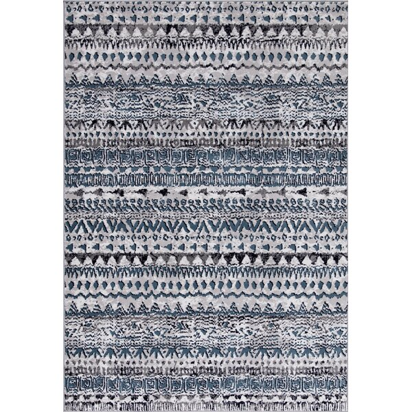 Paugh Premium Transitional Blue/Gray Area Rug by Union Rustic