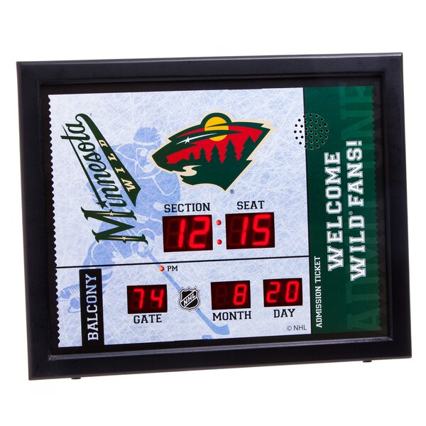 NHL Bluetooth Scoreboard Wall Clock by Evergreen Enterprises, Inc