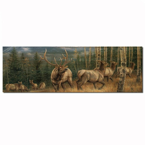 Back Country Elk by Rosemary Millette Painting Print Plaque by WGI-GALLERY