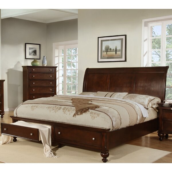 Asher Storage Sleigh Bed by Wildon Home ®