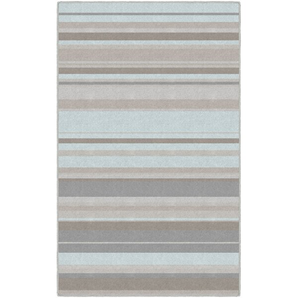Isabell Traditional Pastel Striped Blue Area Rug by Winston Porter