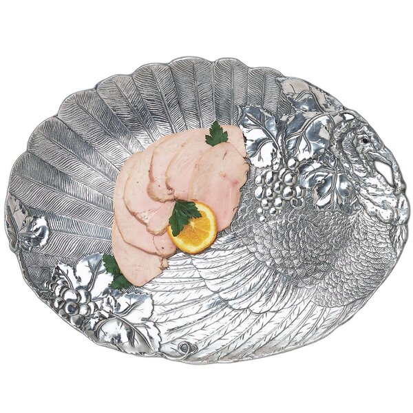 Game Birds Turkey Oval Platter by Arthur Court Des