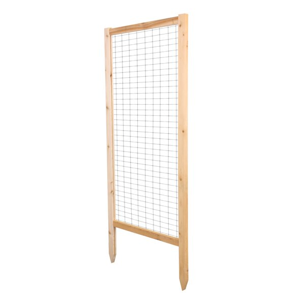 Critter Guard Garden Wood Lattice Panel Trellis Set (Set of 2) by Greenes Fence