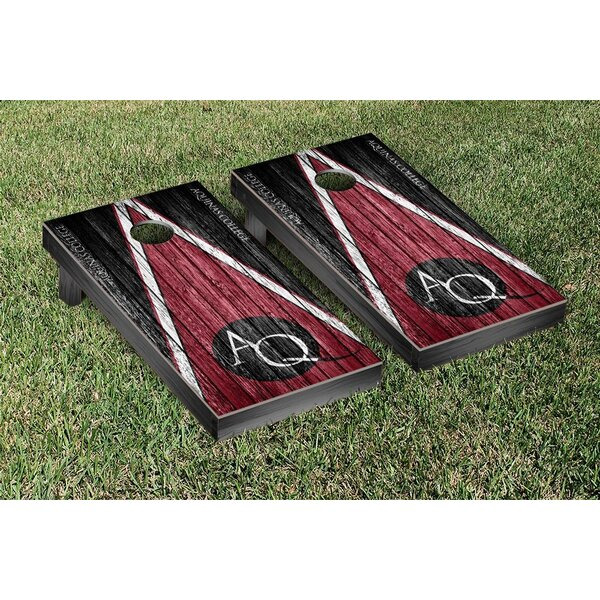 NAIA Aquinas Saints Triangle Weathered Version Cornhole Game Set by Victory Tailgate