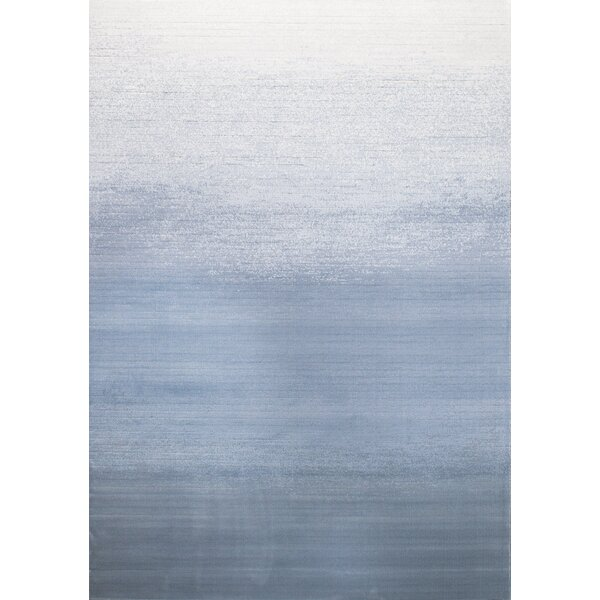 Alladin Fade White/Blue Area Rug by Ivy Bronx