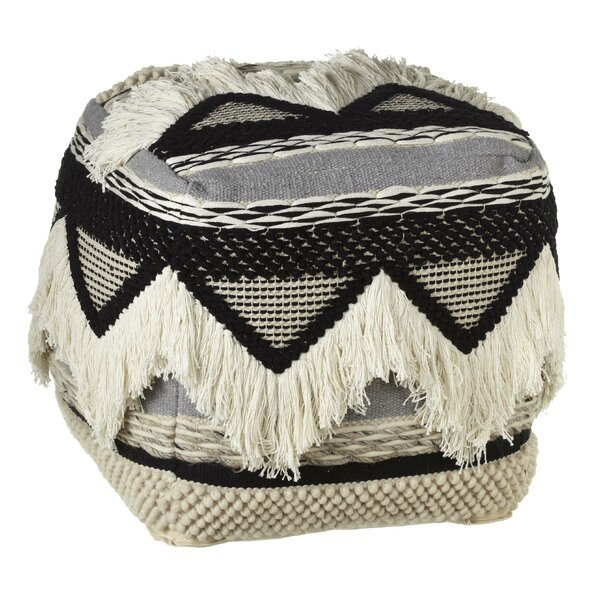 Pellerin Hand-Woven Triangle Fringe Pouf by Union Rustic