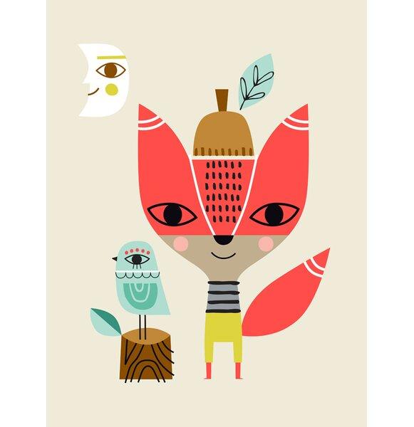 Corrie Mr. Fox Paper Print by Harriet Bee