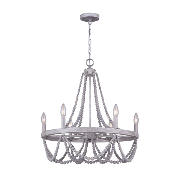Pabai 6 - Light Candle Style Empire Chandelier By Bungalow Rose