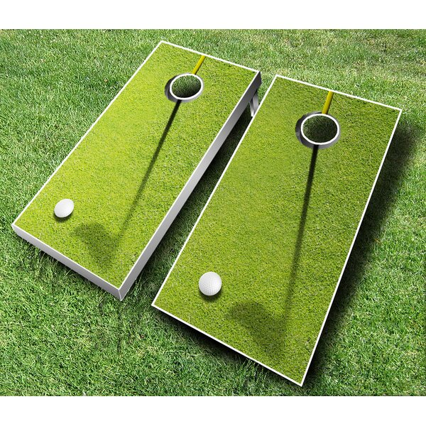 10 Piece Golf Cornhole Set by AJJ Cornhole