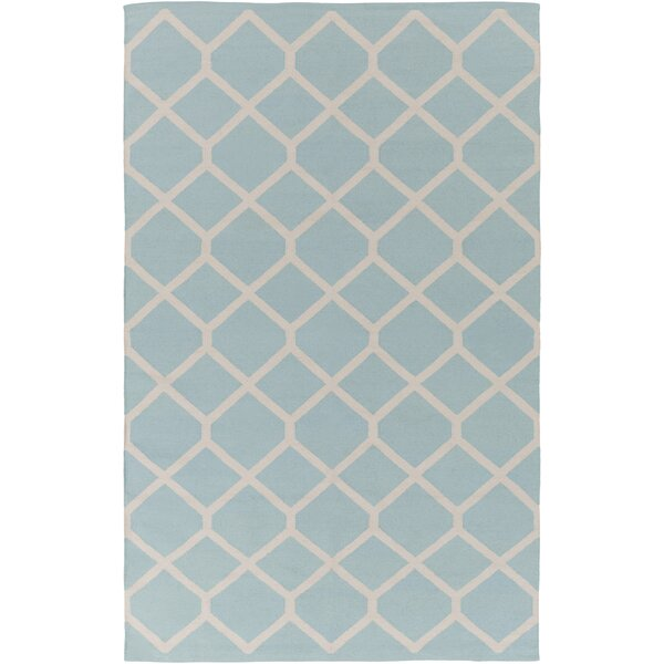 Murphree Light Blue/Ivory Area Rug by Ebern Designs