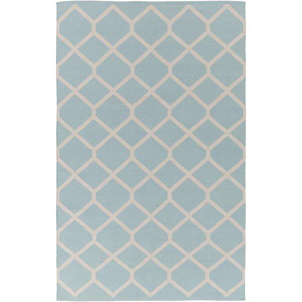 Murphree Light Blue/Ivory Area Rug by Ebern Designs