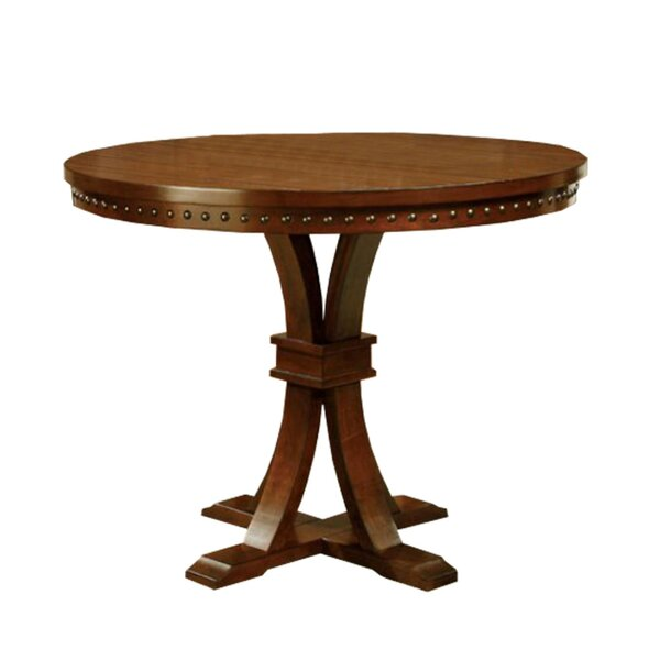 Cliffside Round Counter Height Solid Wood Dining Table by Bay Isle Home Bay Isle Home