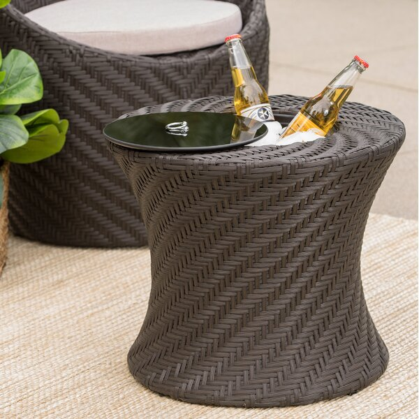 Sommerville Wicker/Rattan Side Table by Andover Mills