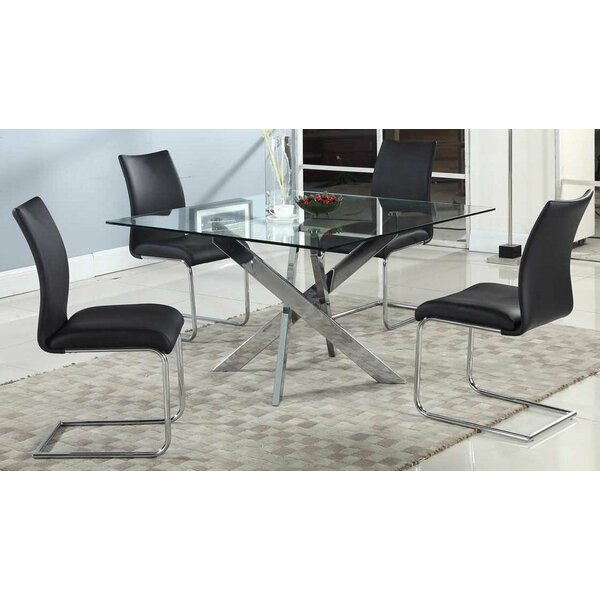 Tajana Dining Table With Glass Top By Orren Ellis Best #1
