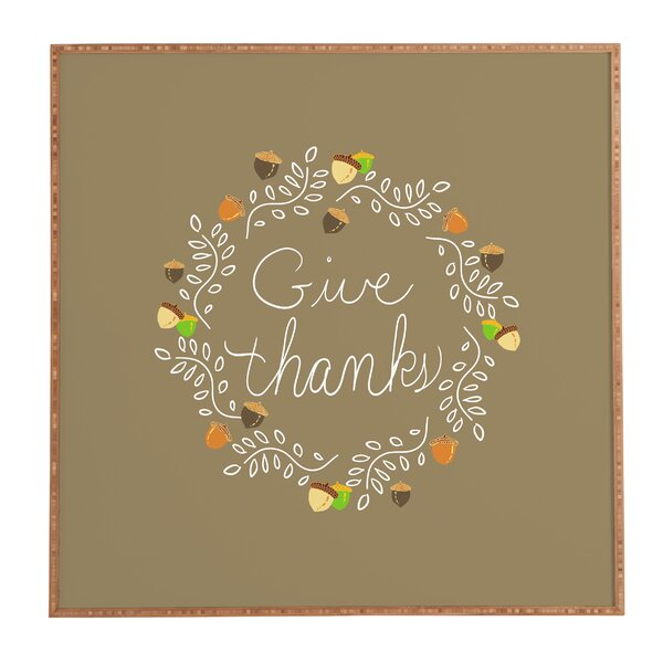 Giving Thanks Framed Textual Art by Latitude Run