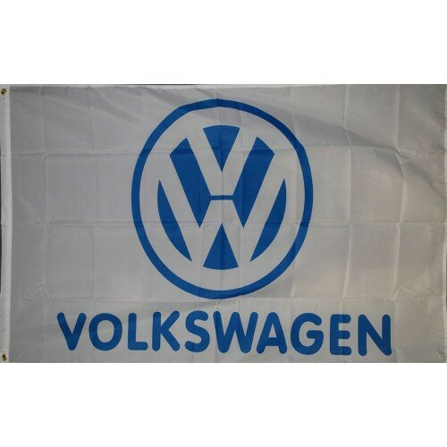 Volkswagen with Logo Traditional Flag by NeoPlex