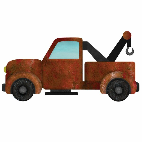 Left Facing Tow Truck Wall Decal by My Wonderful Walls