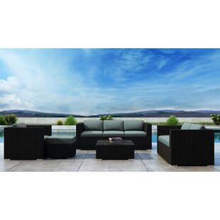 Glendale 5 Piece Sofa Set with Sunbrella Cushion By Everly Quinn