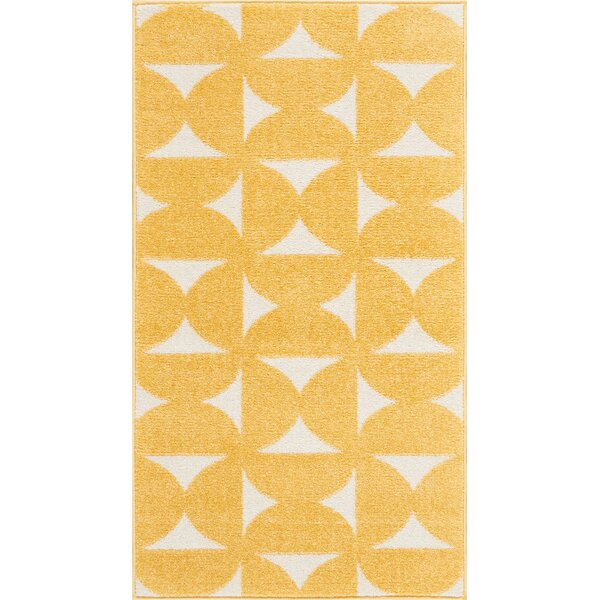 Petrina Yellow Area Rug by Wrought Studio