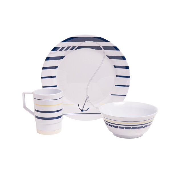 Ariya Melamine Gift 18 Piece Dinnerware Set, Service for 6 by Longshore Tides