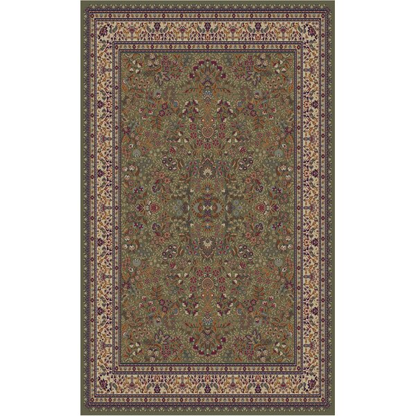 Jewel Sarouk Green Area Rug by Threadbind