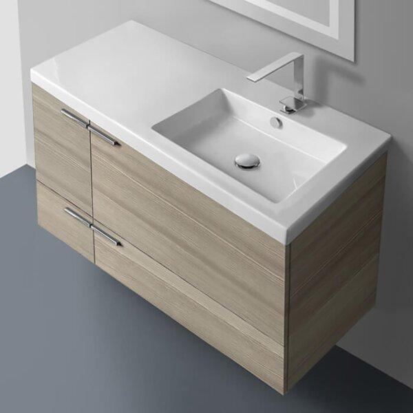 Izayah 39 Wall-Mounted Single Bathroom Vanity Set