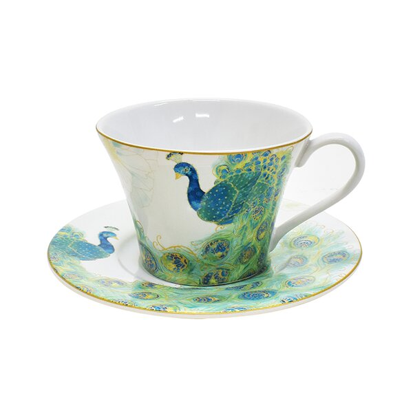 Lakshmi Teacup and Saucer (Set of 4) by 222 Fifth